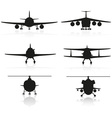 Set icons airplane 02 vector