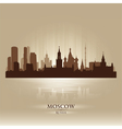 Moscow russia skyline city silhouette vector
