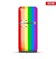 Classic rainbow fridge refrigerator isolated on vector