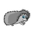 Gray smiling hedgehog character vector