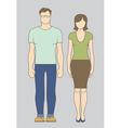 Caucasian couple vector