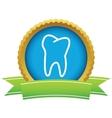 Gold tooth logo vector