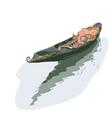 Gondola watercolor style vector
