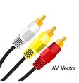 Av signal test television of vector