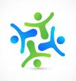 Teamwork business people logo vector