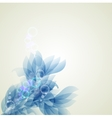 Abstract artistic background with blue floral vector