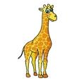 African cartoon giraffe character vector