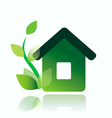 Eco home icon isolated vector