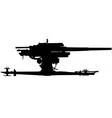 Anti aircraft gun silhouette vector