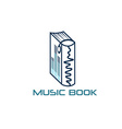 Music book design template vector