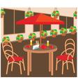 Summer street cafe vector