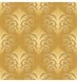 Seamless gold silk wallpaper pattern vector