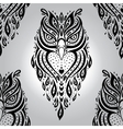 Decorative owl seamless pattern vector