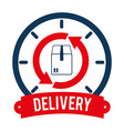 Delivery design over white background vector
