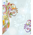 Abstract background with floral ornament vector