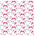 Hearts and swirls on on a light background vector