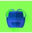 Blue backpack vector