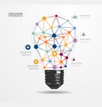Modern design light dot minimal style infographic vector