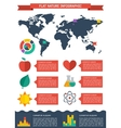Flat ecology infographic background vector