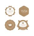 Set of grunge paper texture retro vintage badges vector