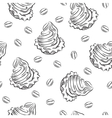 Cookie siamless pattern vector