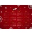 Calendar 2015 snowflake vector