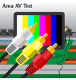 Av signal test in process production television vector
