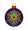 Christmas dark blue ball vector