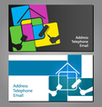 Business card for painting houses vector