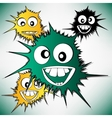 Crazy furry funny face cartoon design background vector