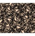 Skulls and bones seamless background vector