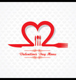 Template for valentine day restaurant menu card vector
