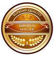 Brown sugar gold label vector