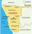 Republic of namibia - map vector