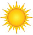 Summer hot sun vector