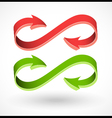 3d style arrow abstract signs vector