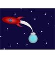 Rocket in space vector
