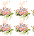 Floral seamless pattern with paeony flowers vector