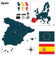 Spanish and european union map vector