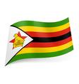 State flag of zimbabwe vector