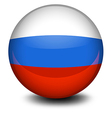 A ball with the russian flag vector
