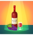Wine with grapes poster vector