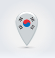 South korean icon point for map vector