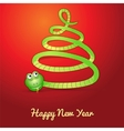 Snake in shape of a christmas tree vector