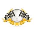 Silver racing emblem vector
