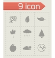 Black eco icons set vector