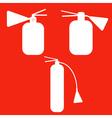 Set of fire extinguishers isolated icons emergenc vector