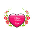 Floral background - heart with flowers vector