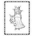 Ancient greek costume vector