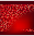 Abstract red halftone dots background vector